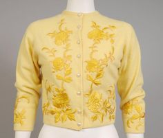 Vintage 50's embroidered cardigan by Helen Bond Carruthers