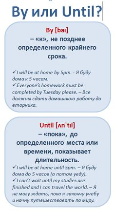Путающиеся слова. By vs. Until #english #vocabulary #learnathome