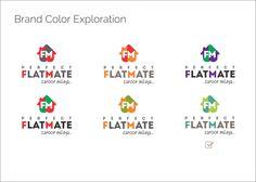 Colour Explorations for logo design of Perfect Flatmate
