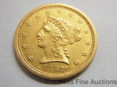 1862 United States Coronet Quarter Eagle Liberty $2.50 Gold Coin