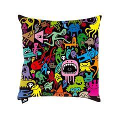 Freaky Pillow 16x16 Black