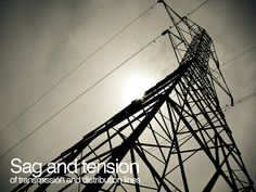 Sag and tension of transmission and distribution lines