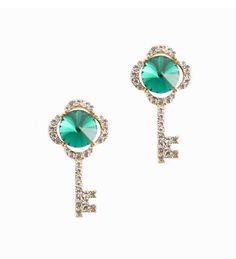 #emeraldcolor #emeraldearring #cubic #nickelfreeearring #hypoallergenicearrings #keyshapedearrings #keys #earrings  YourBasicJewelry.com YBJ Nickel Free Earrings, Emerald Color, Emerald Earrings, Keys, Turquoise, Stuff To Buy, Collection, Jewelry, Fashion