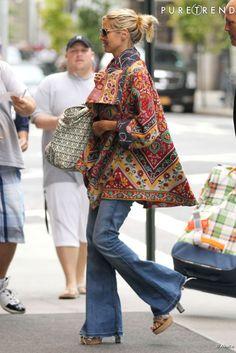 Heidi Klum s'offre un joli flop mode dans les rues de New York le 3 septembre dernier. Heidi Klum, Rachel Zoe, Hippie Bohemian, Hippie Chic, Look Jean, Vogue, Rues, Japanese Embroidery, Boho Look