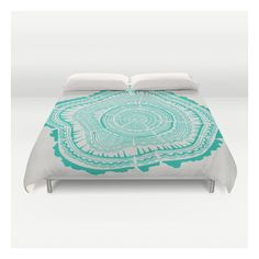 Turquoise Tree Rings Duvet Cover ($129) ❤ liked on Polyvore featuring home, bed & bath, bedding, duvet covers, turquoise duvet, king size bedding, lightweight duvet insert, twin xl bedding and twin extra long bedding