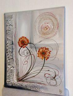 GERBERAS D OR http://peinture-crea.alittlemarket.com/