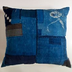 Patchwork Samurai - boro cushion