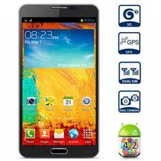 5.7 pulgadas I9000 Android 4.2 3G Smartphone MTK6589 Quad Core 1.2GHz 1GB 8GB HD Gesto de pantalla de detección GPS 13.0MP cámara para Vender - La Tienda En Online IGOGO.ES
