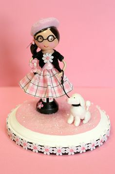 Poodle in Paris Clothespin Doll | Flickr - Photo Sharing!