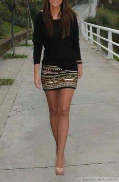 #miniskirt #sequinskirt #loveforfasion