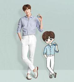 LEE JONG SUK CARTOON by ssong.0914 IG