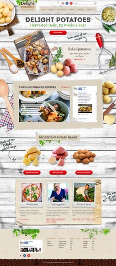 Unique Web Design, Delight Potatoes @iamabsolut #WebDesign #Design (http://www.pinterest.com/aldenchong/)
