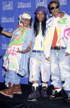 Lisa 'Left Eye' Lopes, Chilli and T-Boz of TLC in 1992. Photo: Getty Images