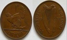 The Penny was part of the Irish Free State coin series of Ireland. Designed by Percy Metcalfe. Produced between the years 1928 at the Royal Mint Tower Hill mint. In total of these coins were minted. Irish Free State, Penny Values, Old Money, Ireland, Coins, Tower, Rook, Rooms, Computer Case