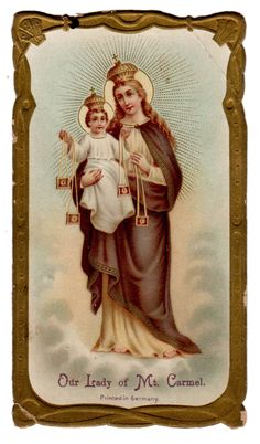 Our Lady of MT Carmel Vintage Holy Card Printed in Germany | eBay