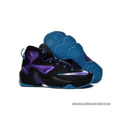 e591d0ce8cdd0 Nike LeBron 13 Black Purple Kids Shoe Basketball Shoes New Release