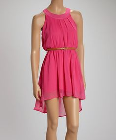 Another great find on #zulily! Pink Yoke Dress by VELZERA #zulilyfinds