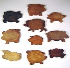 antique pig cutting boards