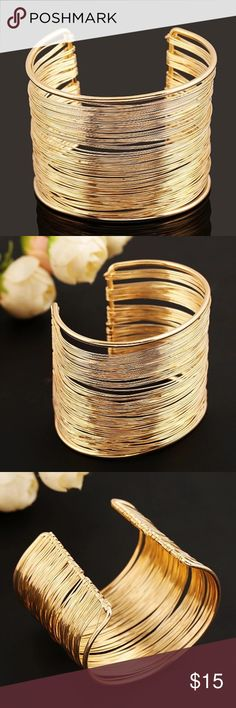 Gold Multilayer Bracelet Wrap Cuff Bangle Classic Gold Multilayer Strings Wristband Bracelets & Bangles Wrap Cuff Bangle Nickel and Lead Free Material: Alloy Diameter: 55mm Weight:44 Grams Jewelry Bracelets