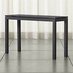 Parsons Console Table with Black Marble Top