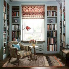 Reading nook/home library. Reading nook/home library. Home Library Rooms, Home Library Design, Home Interior Design, House Design, Cozy Home Library, Dream Library, Small Home Libraries, Library Study Room, Library Corner