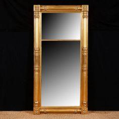 Antique Isacc Platt Giltwood Mirror, c. 1830