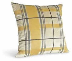 Plaid Gold Pillow - Pillows - Accessories - Room & Board