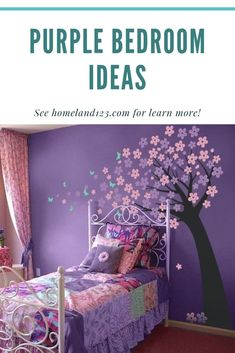 How To Have A Perfectly Jealous Worthy Guest Bedroom - Decor Zone Guest Bedroom Decor, Bedroom Ideas, How To Make Purple, Purple Bedrooms, Homemade Bedroom, Innovation, Toddler Bed, Diy, Jealous