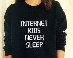 Internet never Sleeps Crewneck