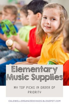 Elementary Music Supplies: my top picks in order of priority for elementary band, choir, and general music. A list created by a elementary music teacher. Classroom Setup, Music Classroom, Elementary Music, Teaching Music, Behavior Management, Choir, Priorities, Curriculum, Teacher