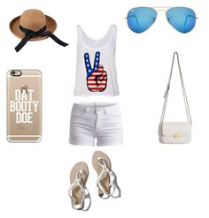 """WHITE No.2"" by suvalic-haris ❤ liked on Polyvore featuring Pieces, Abercrombie & Fitch, Casetify, Ray-Ban and whiteandgold"