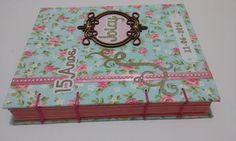 Caderno de assinatura para 15 anos com costura copta etíope. Acesse nosso site www.artesanatocolorido.com.br e inscreva-se no canal www.youtube.com/c/ArtesanatoColorido