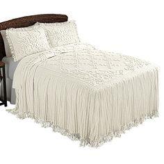 Cottage Charm Floral Lattice Chenille Bedspread, Cream, Q... https://www.amazon.com/dp/B01440OAJS/ref=cm_sw_r_pi_dp_x_jJ2yyb07SK2V9