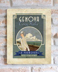 Genova Corso Italia | TARGA | Vimages - Immagini Originali in stile Vintage