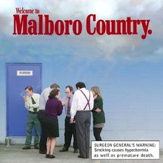 If tobacco ads told the truth: Marlboro Country