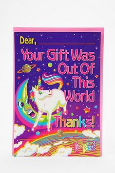 This would be perfect thank you notes for some Deepher gifts!!! lisa frank!!