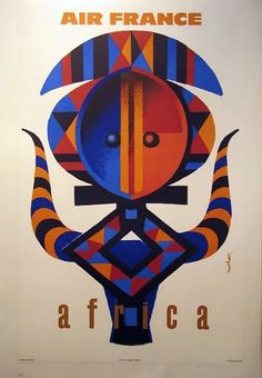 vintage travel poster from Air France - africa Air France, Party Vintage, Vintage Room, Vintage Travel Wedding, Travel Ads, Airline Travel, Air Travel, Travel Photos, Vintage Travel Posters