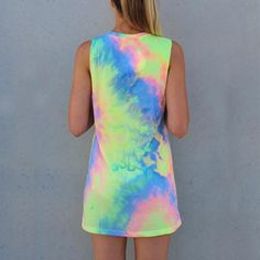 Tie-dye Rainbow Tank Dress