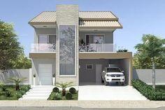 Planta de casa com telhado duas águas
