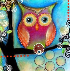 owl painting.