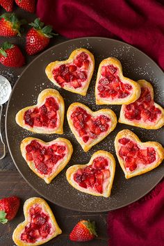 Heart-Shaped Strawberry Cream Cheese Breakfast Pastries - Cooking Classy