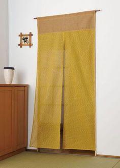 綿しじらロングのれん(芥子色)85×175cm