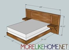 More Like Home: Day 5 - Build a Simple Modern Headboard