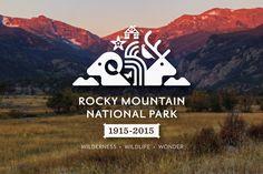 Rocky Mountain National Park Centennial Logo by Christopher Dina, via Behance