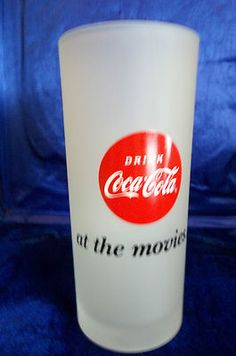 Drink Coca Cola At The Movies Frosted Glass/Tumbler/Girl Painted On Side Coca Cola Glasses, Coke Drink, Girls Tumbler, Always Coca Cola, Pepsi, Frosted Glass, Coco, Appreciation, Drinking