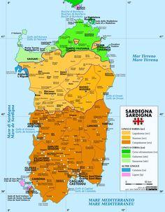 Linguistic Map of Sardinia