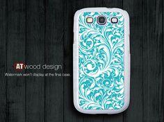 blue flowers design Galaxy SIII Galaxy S3 i9300 Case unique Case Samsung Case Samsung. $14.99, via Etsy.