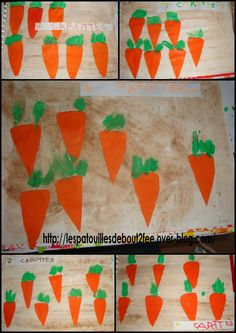 album à compter 7 carottes Food Crafts, Carrots, Creations, Album, Math, School, Spring, Visual Arts, Fruits And Veggies