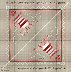 Part 12 SAL Red Love To Stitch Pincushion Heart