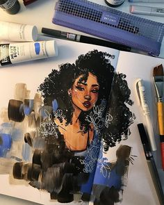 THE ART OF JACQUELIN DELEON — Working in my sketchbook for the first time in the... #NutritionWallpers